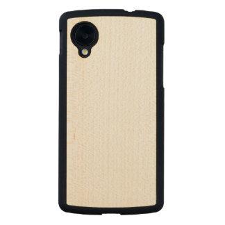 木製の細いGoogleの関連5の場合 Carvedメープル Nexus 5スリムケース