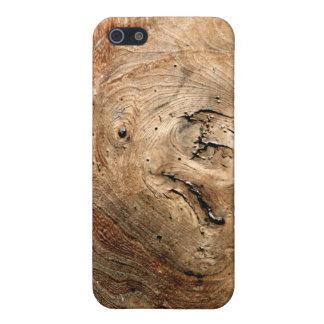 木製の結び目 iPhone SE/5/5sケース