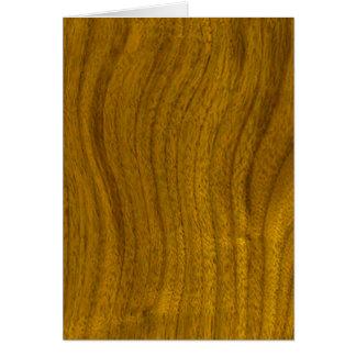 木製の背景に文字を加えて下さい カード