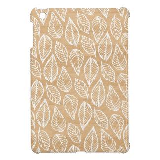 木製の背景の素朴な上品は自然パターンを残します iPad MINIカバー