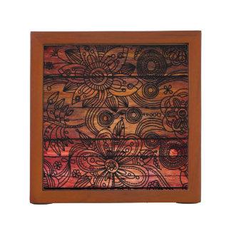 """""""木製の花""""のmDarkPoetによるカスタムな机のオルガナイザー ペンスタンド"""