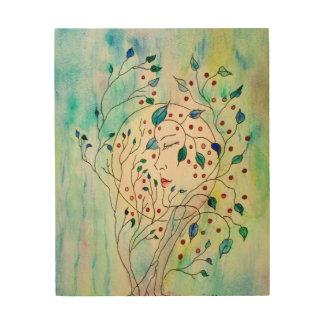 木製の芸術-森林の精神 ウッドウォールアート