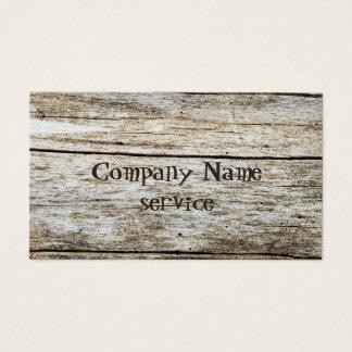 木製の質によって切り分けられる文字の効果 名刺