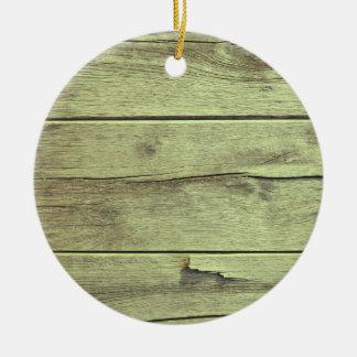 木製の質のオリーブ色色 セラミックオーナメント