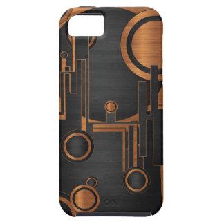 木製の質の抽象美術正方形の円および iPhone SE/5/5s ケース