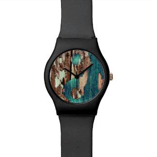 木製の質の陰陽の腕時計 腕時計