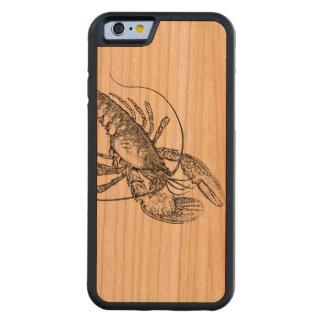 木製の非常に熱いロブスター CarvedチェリーiPhone 6バンパーケース