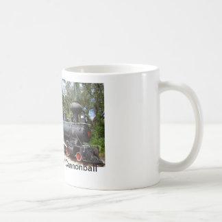 木製の非常に熱い蒸気の列車 コーヒーマグカップ