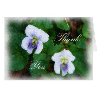 """木製バイオレットは""""感謝していしています"""" カード"""
