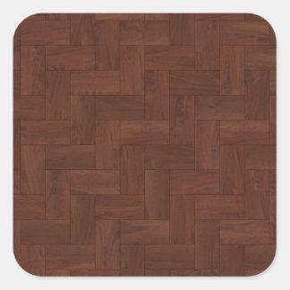 木製パターン寄木細工の床の床タイル 正方形シール