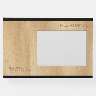 木製フレームBのテンプレートの葬儀の来客名簿はイメージを加えます ゲストブック