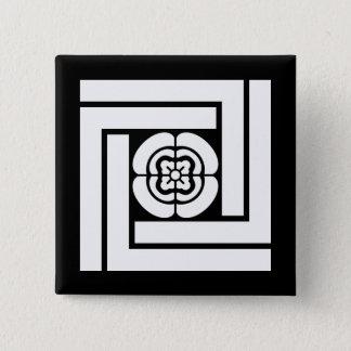 木谷吉次郎 5.1CM 正方形バッジ