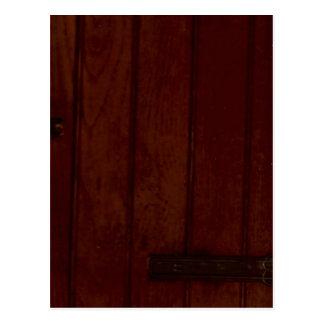 木質の木製の木質 ポストカード