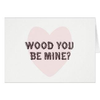 木鉱山のバレンタインデーカードです カード