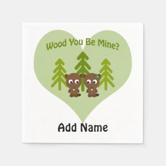 木鉱山のビーバー愛です スタンダードカクテルナプキン