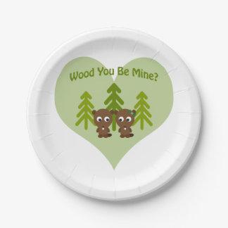 木鉱山のビーバー愛です ペーパープレート