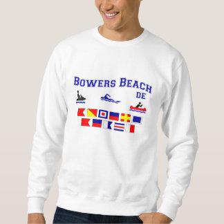 木陰のビーチDEのシグナルフラグ スウェットシャツ