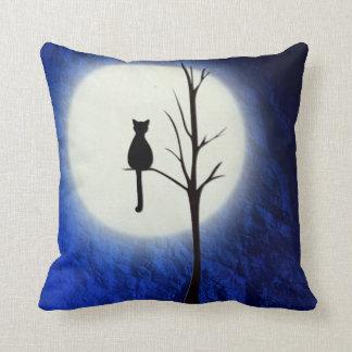 木2の装飾用クッションの黒猫 クッション