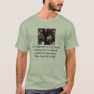 木、けれども私はように動く教会でない…長びきました Tシャツ