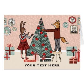 木-カスタマイズ可能な文字のクリスマスカリフォルニア--を飾って下さい カード
