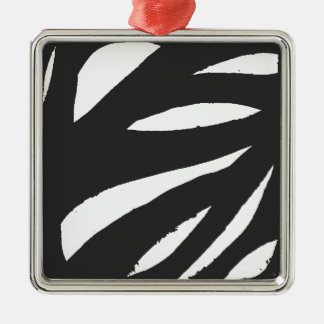 木 シルバーカラー正方形オーナメント