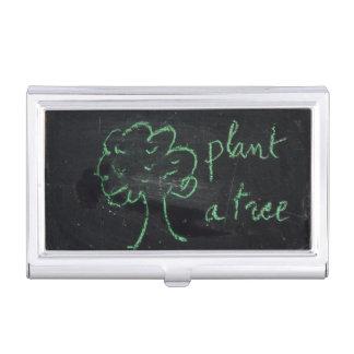 木-名刺のホールダー--を植えて下さい 名刺入れ