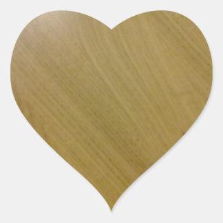 木|床 ハート形シール・ステッカー