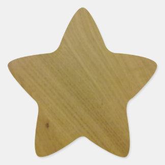 木|床 星形シール・ステッカー