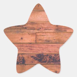 木|床|デザイン 星形シールステッカー