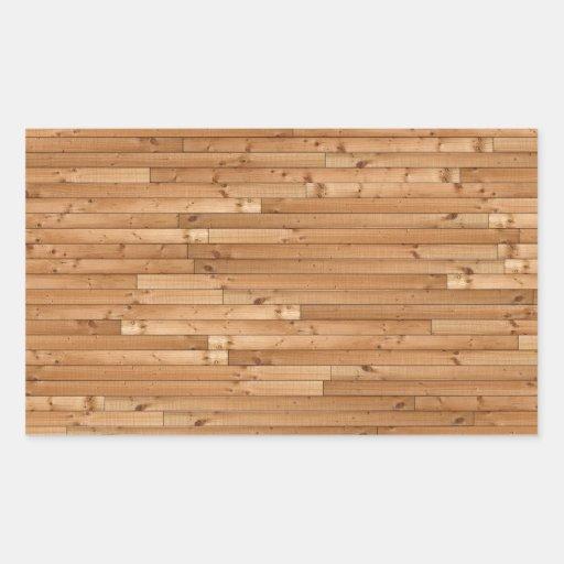 木 床 パターン 長方形シール・ステッカー