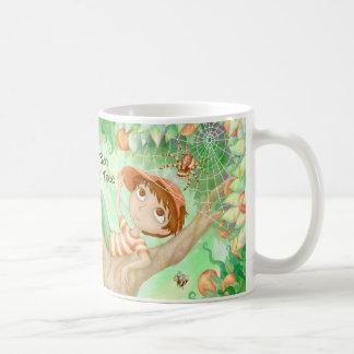木-木の男の子のマグの男の子 コーヒーマグカップ