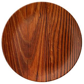 木 磁器プレート