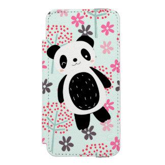 木、花およびパンダくま INCIPIO WATSON™ iPhone 5 ウォレット ケース