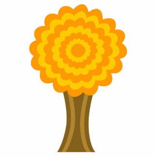 木。 金秋色。 ファンキーな設計 写真彫刻バッジ