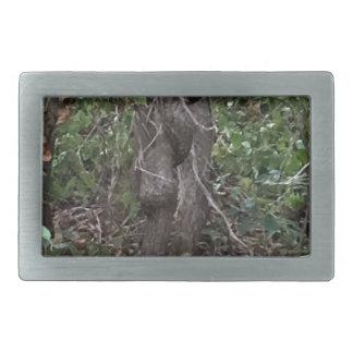 木 長方形ベルトバックル