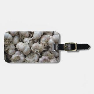 未加工ニンニク乾燥の健康な食糧壁紙 ラゲッジタグ