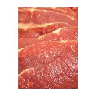 未加工肉 キャンバスプリント