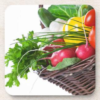 未加工野菜が付いている構成 コースター