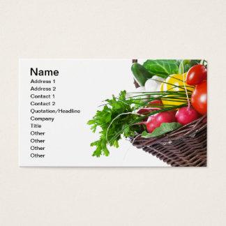 未加工野菜が付いている構成 名刺