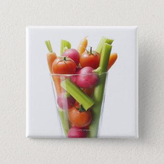 未加工野菜の振動 缶バッジ