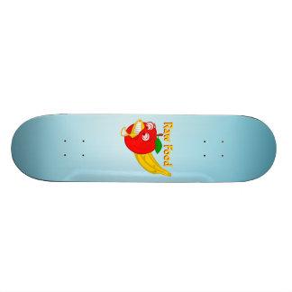 未加工食糧食糧戦いAppleはバナナを作詩します 20.6cm スケートボードデッキ