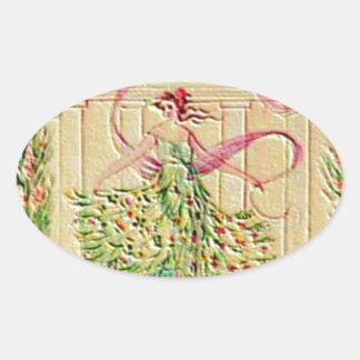 未婚の女神アテーナー 楕円形シール