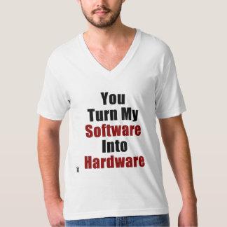 未指定帝国-ハードウェアV首へのソフトウェア Tシャツ