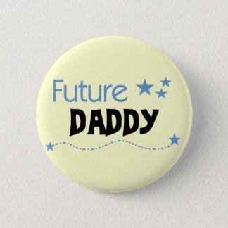 未来のお父さんのTシャツおよびギフト 5.7CM 丸型バッジ
