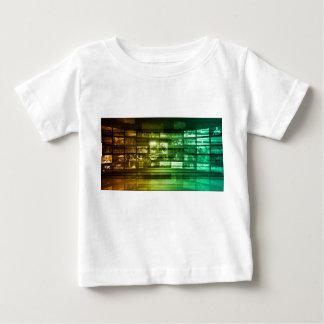 未来のくもの巣の情報技術の芸術 ベビーTシャツ
