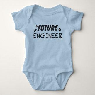 未来のエンジニア ベビーボディスーツ