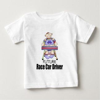 未来のカーレースの運転手 ベビーTシャツ