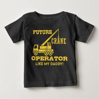 未来のクレーンの操縦士は私のお父さんを好みます ベビーTシャツ