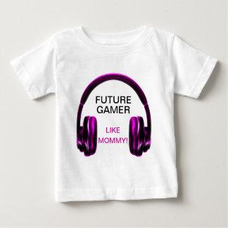 未来のゲーマーはお母さんを好みます! ベビーTシャツ