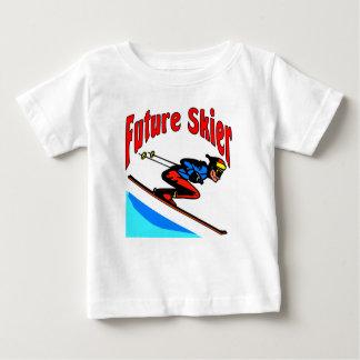 未来のスキーヤー ベビーTシャツ